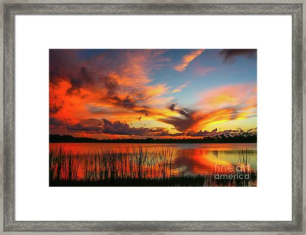 Framed Print featuring the photograph Colorful Fort Pierce Sunset by Tom Claud