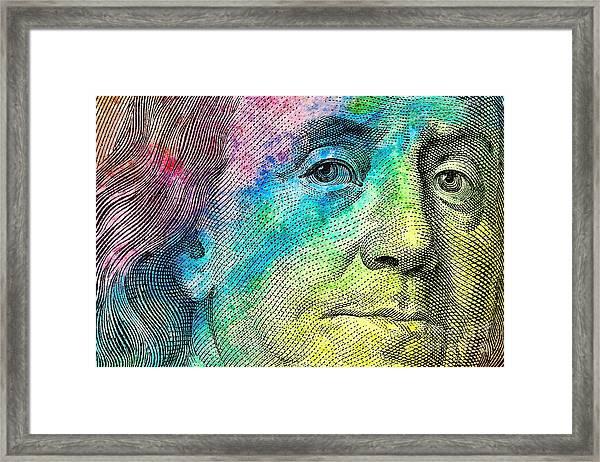 Colorful Franklin Framed Print