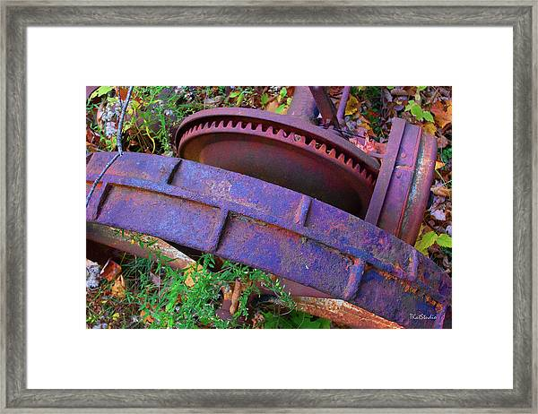 Colorful Gear Framed Print