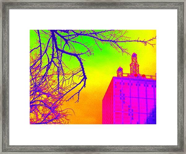 Dallas In Vivid Colors Framed Print