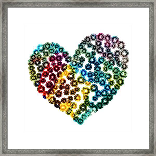 Colorful Heart Framed Print
