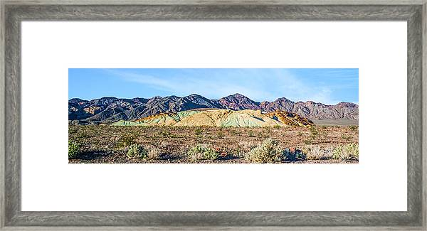 Colorful Hills Framed Print