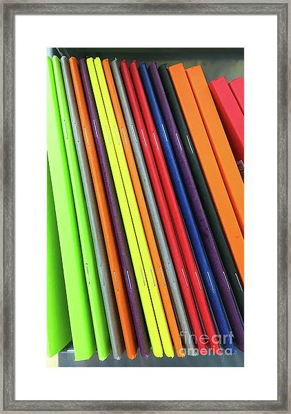 Colorful Notebooks Framed Print