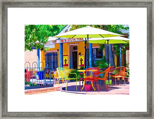 Colorful Old Town 2 Framed Print