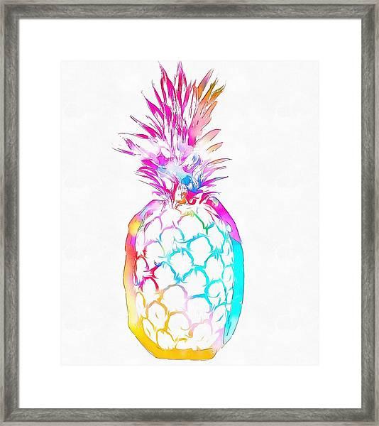 Colorful Pineapple Framed Print