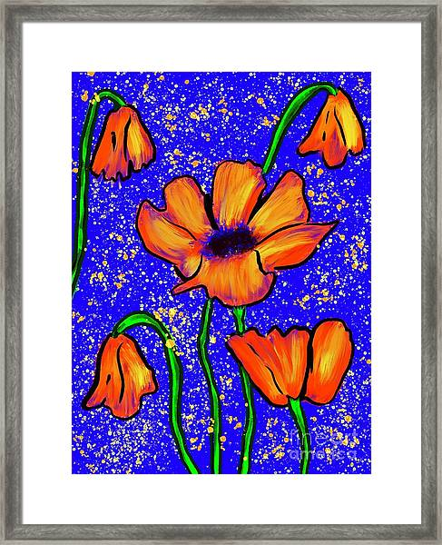 Colorful Flower- Poppies Framed Print