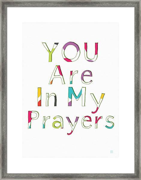 Colorful Prayers- Art By Linda Woods Framed Print