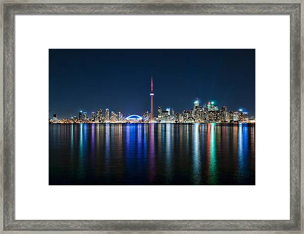 Colorful Reflections Of Toronto Framed Print