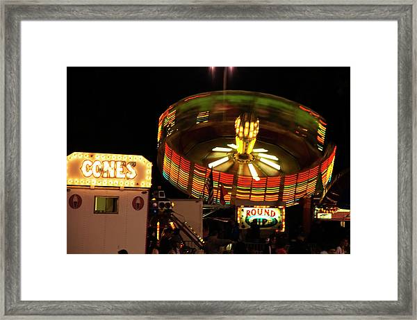 Colorful Round Up Wheel Framed Print