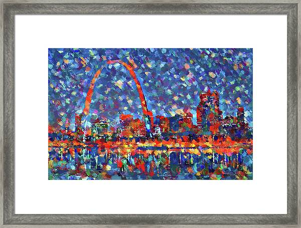 Colorful St Louis Skyline Framed Print