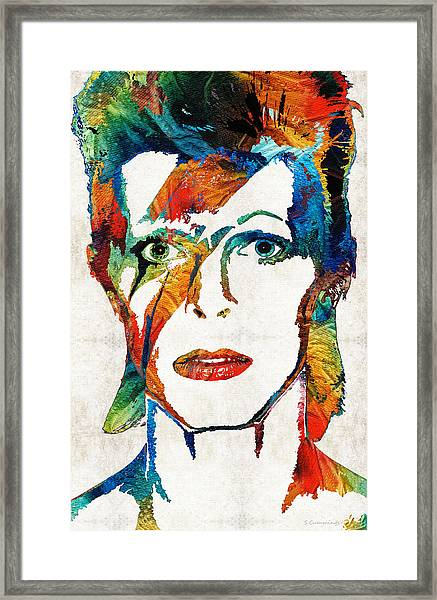Colorful Star - David Bowie Tribute  Framed Print