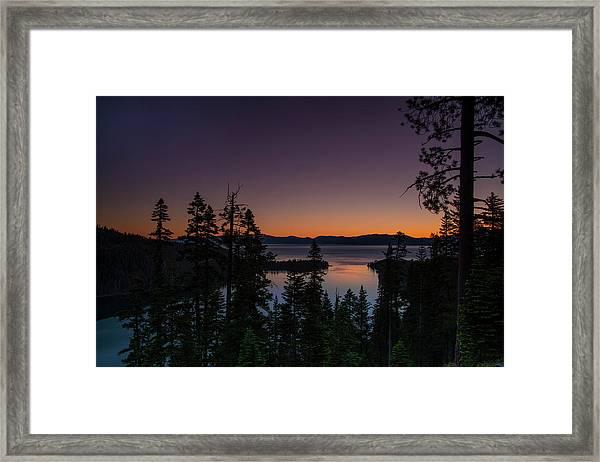 Colorful Sunrise In Emerald Bay Framed Print
