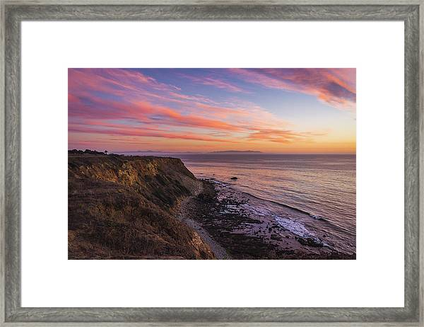Colorful Sunset At Golden Cove Framed Print