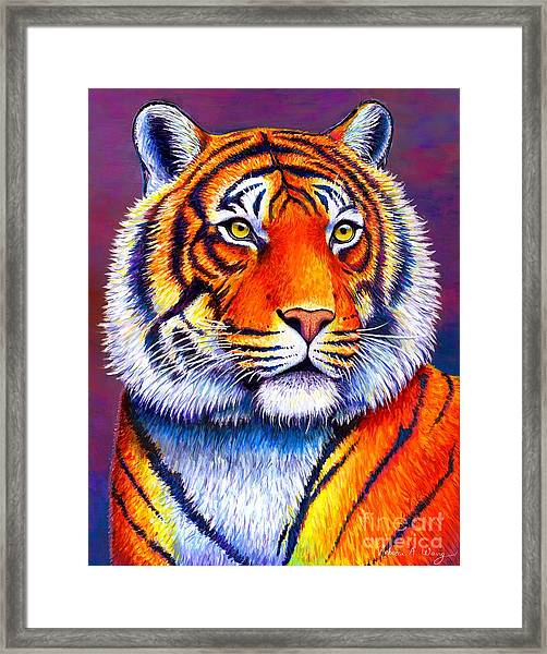 Colorful Tiger Framed Print
