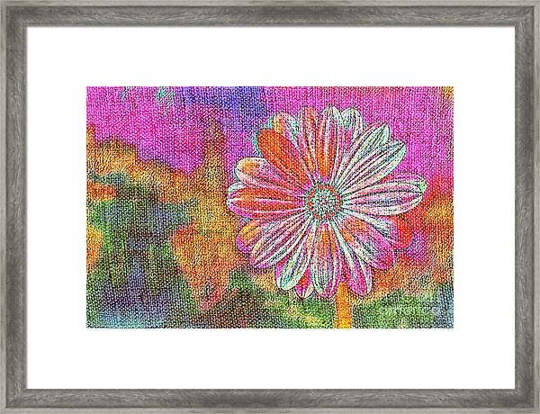 Colorful Watercolor Flower Framed Print