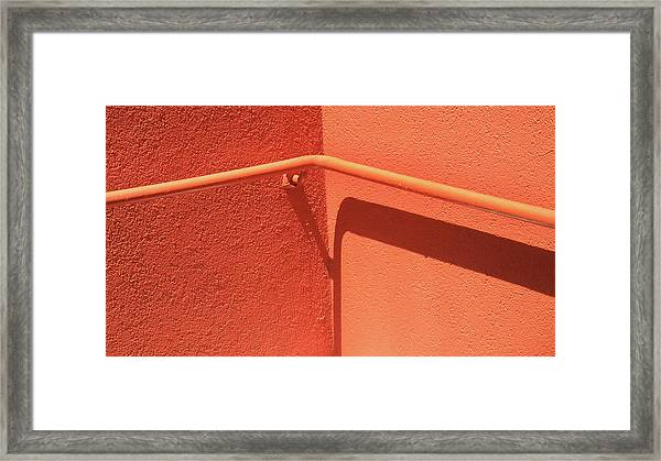 Colors And Shadows Cornered Framed Print