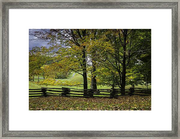 Colors At Mac Rae Field Framed Print