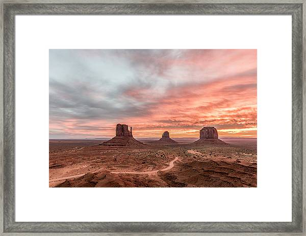 Colors In Monument Framed Print