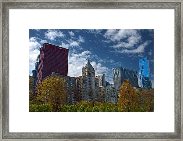 Colors In The City Framed Print