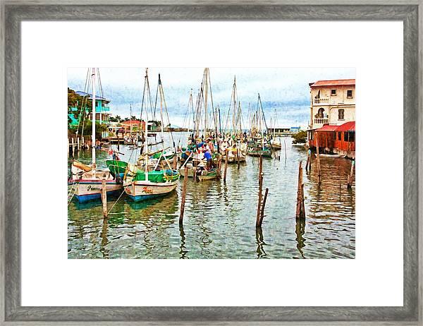 Colors Of Belize - Digital Paint Framed Print