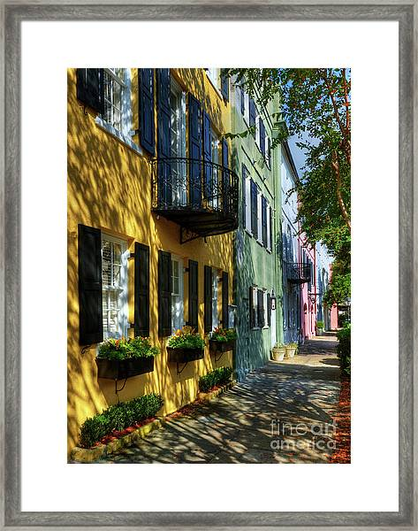 Framed Print featuring the photograph Colors Of Charleston 3 by Mel Steinhauer
