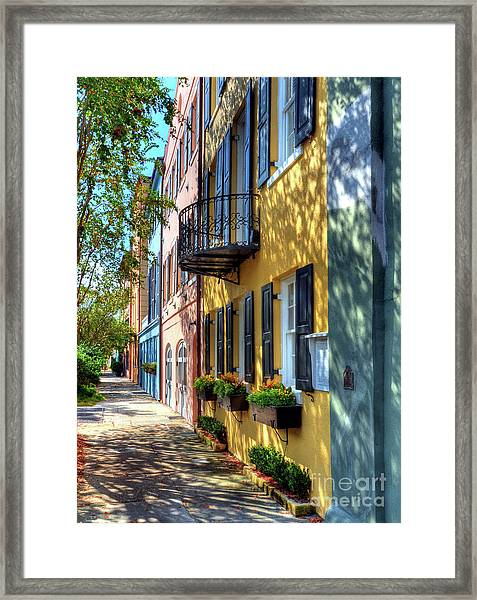 Framed Print featuring the photograph Colors Of Charleston 5 by Mel Steinhauer