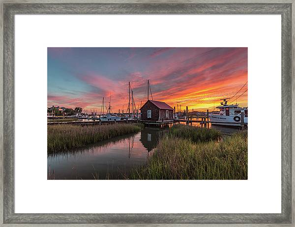 Colors Of Shem Creek - Mt. Pleasant Sc Framed Print