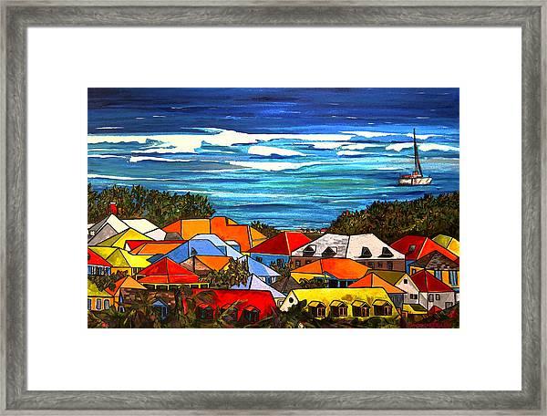 Colors Of St Martin Framed Print