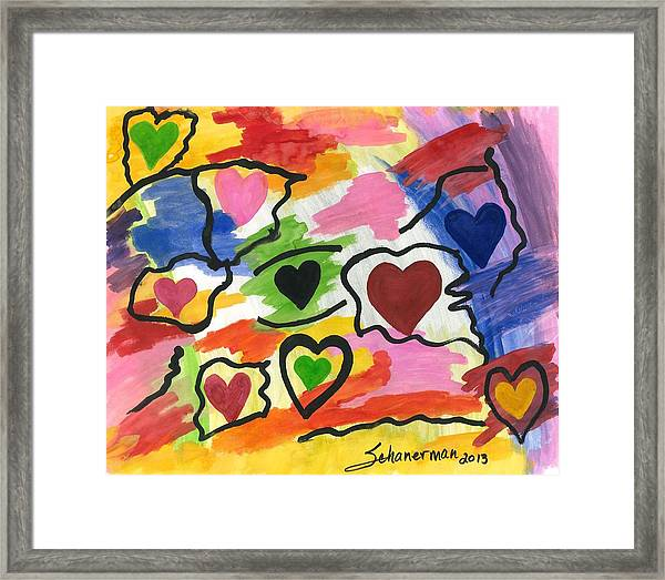 Colors Of The Heart Framed Print