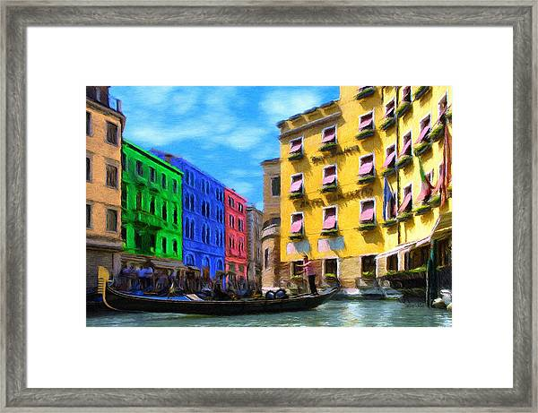 Colors Of Venice Framed Print