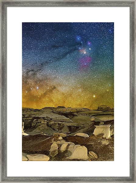 Colors On The Rise Framed Print