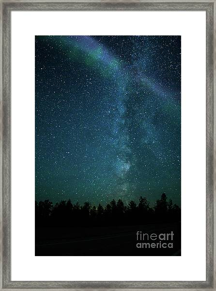 Colors Over The Milky Way Framed Print