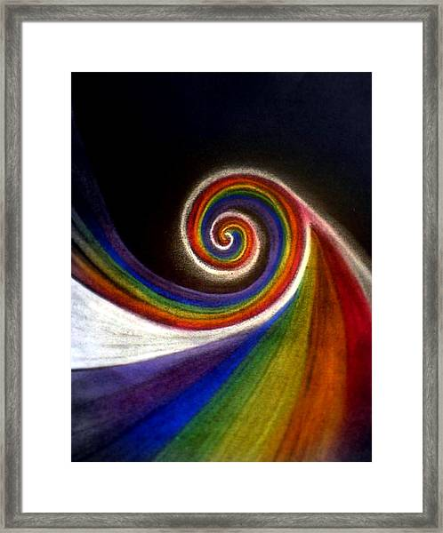 Colorswirl Of Creation Framed Print