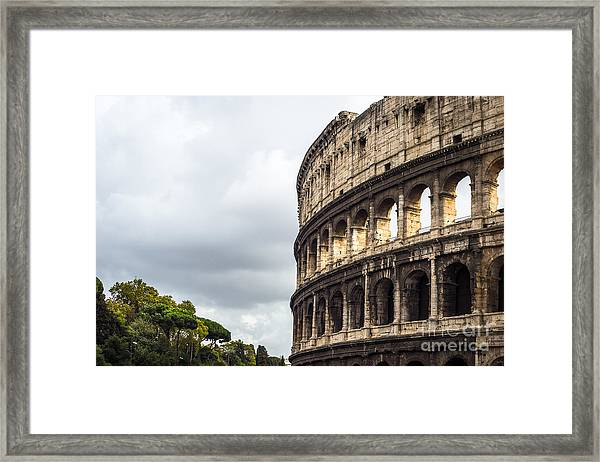 Colosseum Closeup Framed Print