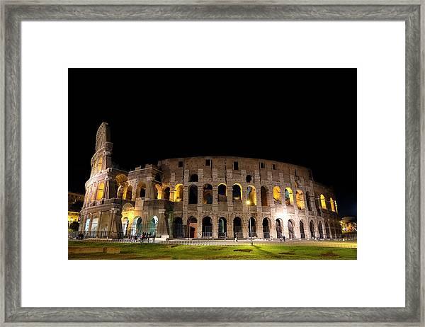 Colosseum Framed Print by Nikos Stavrakas