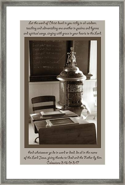 Colossians 3 Framed Print