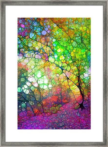 Colour Combustion Framed Print