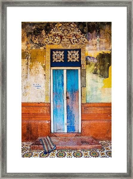 Colourful Door Framed Print