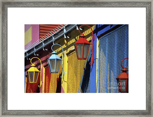Colourful Lamps La Boca Buenos Aires Framed Print