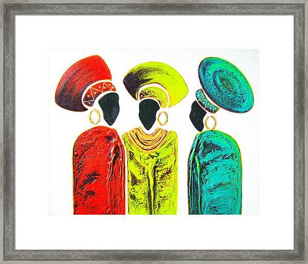 Colourful Trio - Original Artwork Framed Print