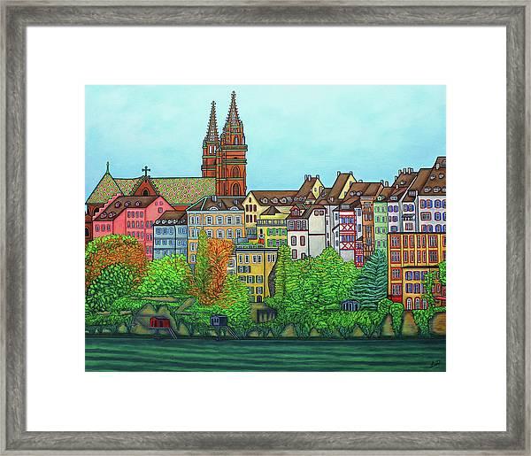 Basel, Colours Of Basel Framed Print