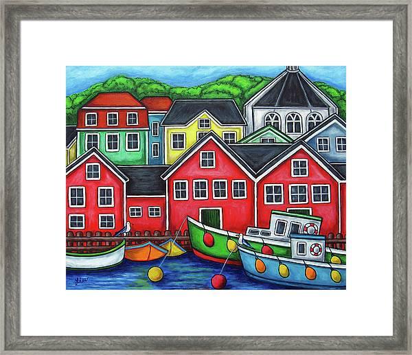 Colours Of Lunenburg Framed Print