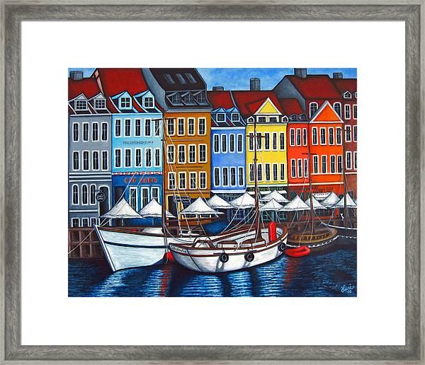 Colours Of Nyhavn Framed Print