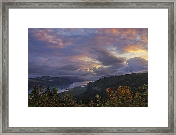 Columbia Gorge Sunrise Framed Print