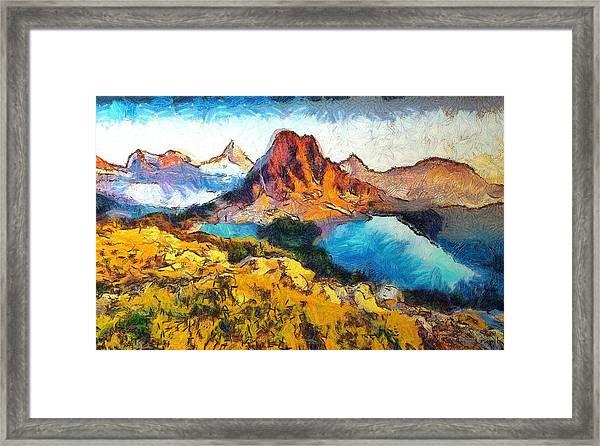 Columbia Lake Reverie Framed Print