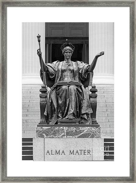Columbia University Alma Mater Framed Print