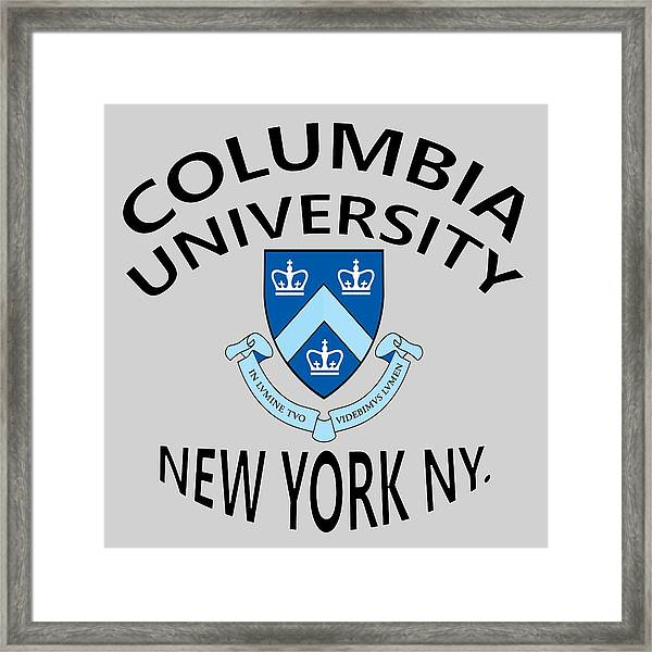 Columbia University New York Framed Print