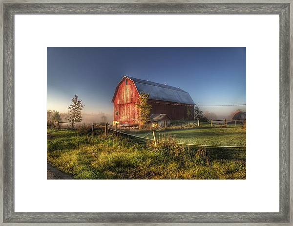 0009 - Columbiaville Red I Framed Print