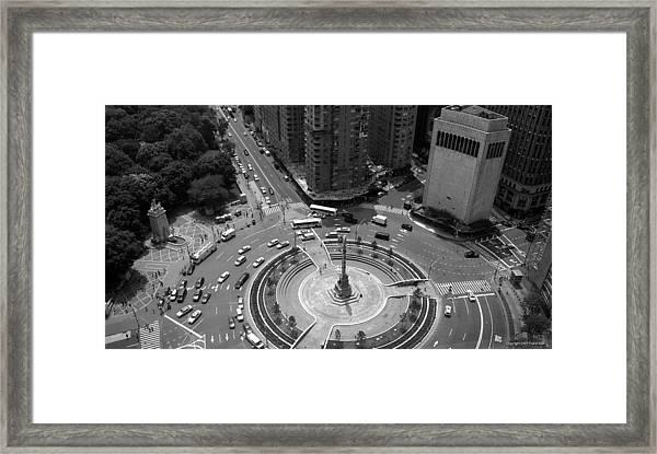 Columbus Circle Nyc C.2005 Framed Print