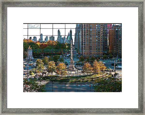 Columbus Circle Framed Print